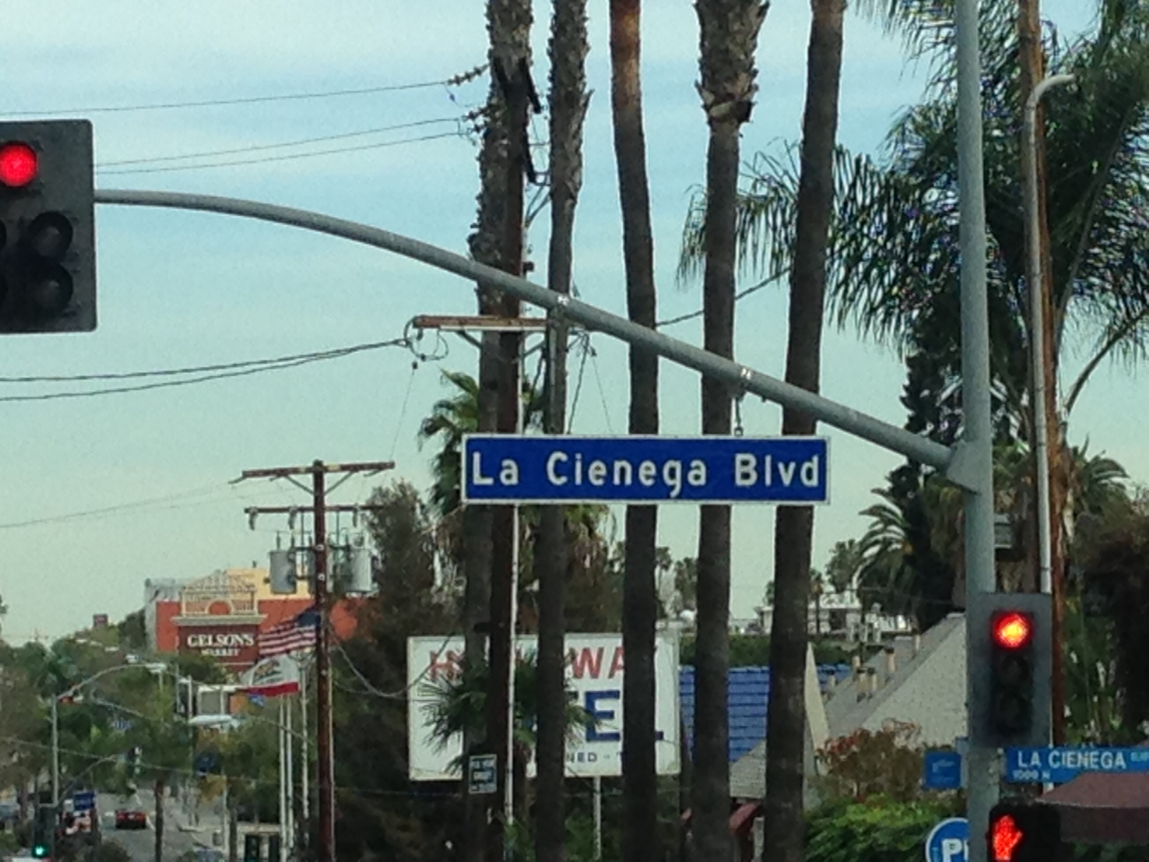 row on la cienega for excellent choices on where to eat in los angeles