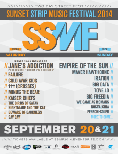 SSMF – Sunset Strip Music Festival 2014