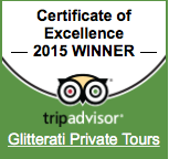 Glitterati Private Tours Awarded TripAdvisor Excellence Award