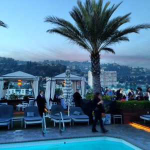 Gay-Friendly LA: The London Hotel Rooftop Pool & Bar
