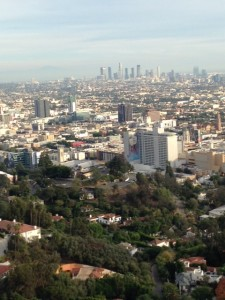 Bit of a marine layer over Los Angeles