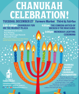 Chanukah Celebrations in Los Angeles at Farmers Market