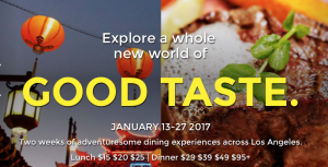 Enjoy the Best Restaurants in Los Angeles During Dine LA 2017