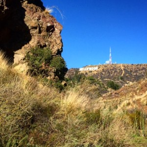 Bat Cave from Batman with View of the Hollywood Sign