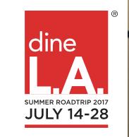 Summer dineLA Restuarnts Around Los Angeles