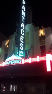 Pantages Theatre in Hollywood Calendar 2013