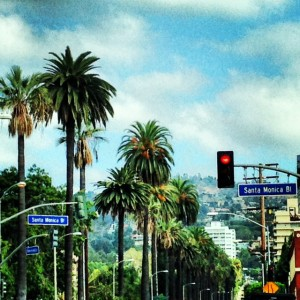 Santa Monica Boulevard in West Hollywood and Beverly Hills