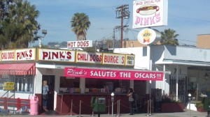 Pink's Hotdogs in Hollwood