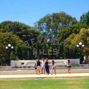 Beverly Gardens Park in the 90210
