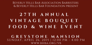 Beverly Hills Bar Foundation Event at Greystone Mansion