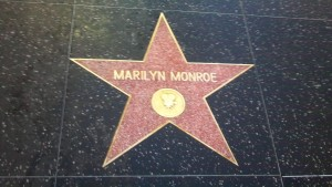 Marilyn Monroe Walk of Fame Star