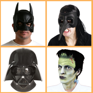 Masks from Hollywood Toys and Costumes