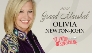 Grand Marshal of The Hollywood Christmas Parade 2016, Olivia Newton John