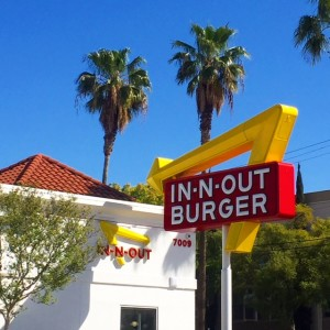 In N Out Burger Hollywood