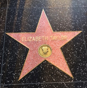 Elizabeth Taylor on The Walk of Fame