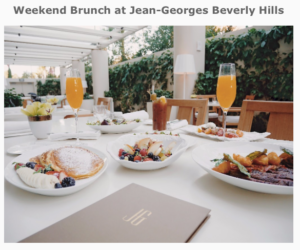 Brunch in Beverly Hills at Jean-Georges