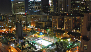 Pershing Square in DTLA Ice Skating
