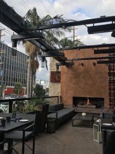 Patio at No. 10 Restaurant in Los Angeles