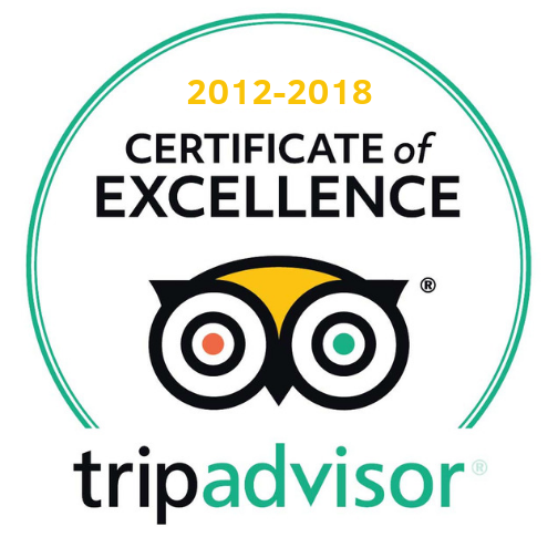 TripAdvisor Certificate of Excellence 7 years running