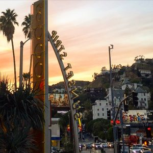 The Beginning of The Sunset Strip at The Chateau Marmont Hotel