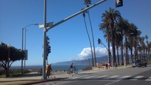 Pacific Coast Highway and Ocean Avenue in Santa Monica